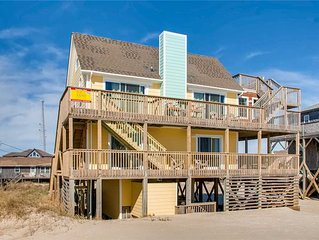 Can't Get Much Closer Than This! Oceanfront, Rodanthe w/ Hot Tub & Dog-Friendly
