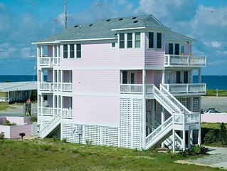Exclusive HI Estates! Oceanview, Rodanthe w/Pool, Hot Tub, Game Rm, Dog-Friendly