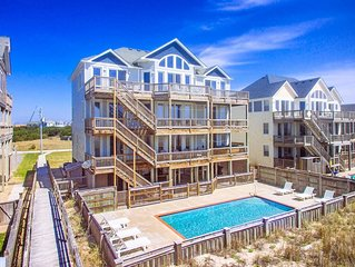 Amazing Oceanfront View Hatteras-Elevator, Pool, HotTub, GameRm, Beach Boardwalk