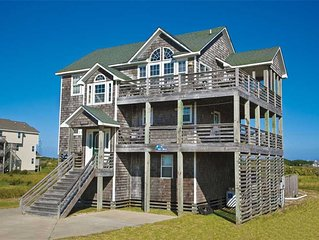 Kick Back Semi-Oceanfront, Hatteras -Pool, Hot Tub, Game Rm, Dog-Friendly & More
