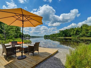 LakeFront in heart of Poconos, near Aquatopia, Kalahari, mt. Airy Casino,