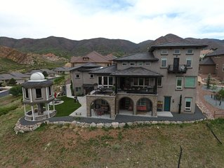 Enjoy Amazing City and Mountain Views from Lower Level of Gorgeous Tuscan Home