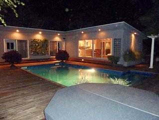 Fire Island PINES Resort Immaculate, Stylish , Huge heated Pool w/ Spa ,privacy