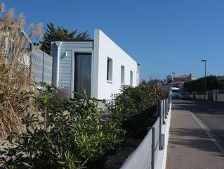 Maison moderne 90 m2 plain-pied, 5 min plage et thalasso. Wifi. Clim. Jaccuzi