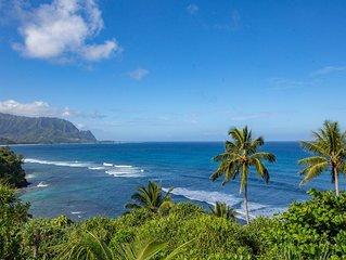 Hawaiian Style Princeville Condo with Panoramic Ocean and Bali Hai Views.