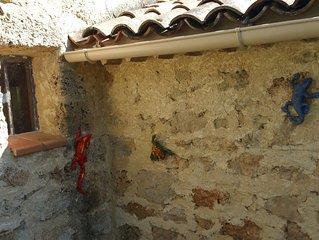 Cabanon provençal en pierre en Provence Verte