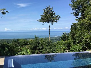 Villa Balcon Ballena, Ocean, Whales Tail & Rainforest Overlook - Uvita, Costa Ri