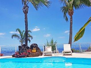 Grande Anse, Appart. 'Lé Bel', terrasse avec piscine vue sur l'océan, résidence