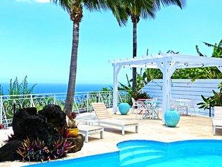 Petite-île, plage de Grande Anse, Appart Zirondel de charme avec piscine vue à 1