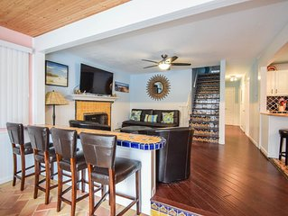 Two hundred feet to the beach entrance with many amenities.  Pet friendly.