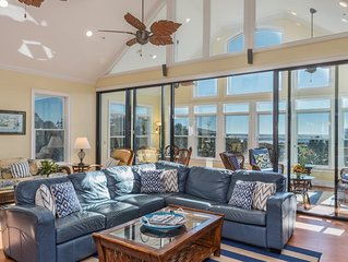 Tremendous Fripp Island Home w/ Ocean View. Game Room, & Golf Cart, great for Gr