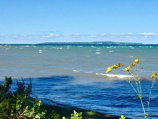 Our family cottage is yours ~ Lake Huron shore, Mackinac Island-Grand Hotel view