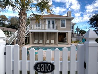 Perfect East Beach Home-Steps to Beach, Heated Pool, Bikes & Kayaks included! Sl