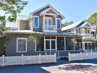 48-Hour Cancellation-Artfully Rebuilt 5 BR in Seaside, 2 King Masters