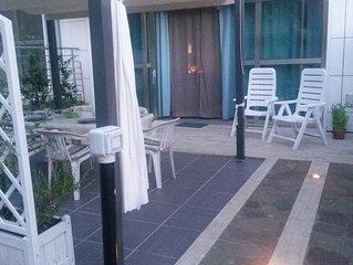 Castiglioncello: graziosa casa al mare con giardino, garage in moderno residence