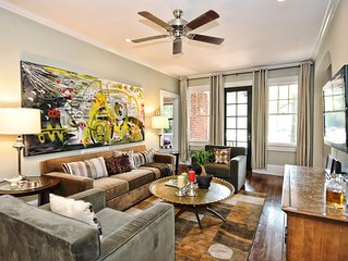 Myers Park Furnished Apartment in Charlotte-2br/1ba with screened porch