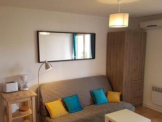 Studio spacieux de 27 m2  avec clim, garage, Wi-fi