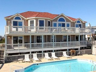 #OH1: OCEANFRONT w/HtdPool, HotTub, Elev. & RecRm w/PoolTable