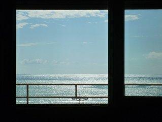 Splendido attico fronte mare in Versilia con vista della costa e delle Apuane