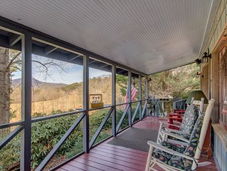 QUIET SECLUDED, 4 PRIVATE FALLS, TRAILS, RIVER 180 VIEW MTS 2ML DILLARD MARKET