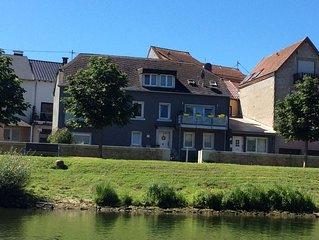 Apartment mit direktem Blick auf Mosel und Sauer.Luxemburger Grenze