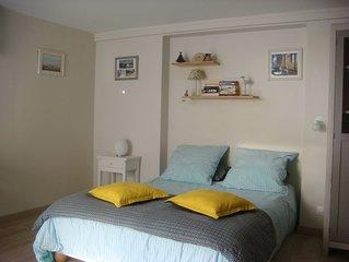 Charmant logement rez jardin 3Pers calme résidentiel 400m plage /C. Thalasso