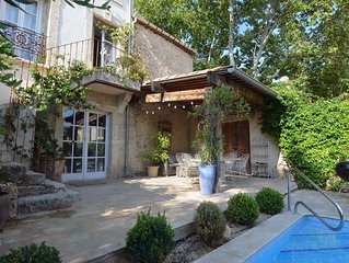 Beautiful village house with heated pool, air con, near Pezenas, Languedoc