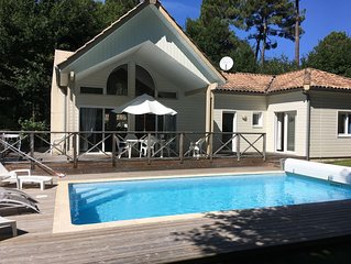 House VILLA WOOD 4 * (6 PERS) ON GOLF BISCARROSSE, HEATED POOL, QUIET