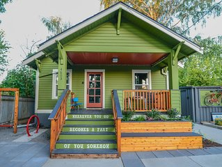 Hot & Chic Mississippi District -Fresh, Bright & Modern Bungalow