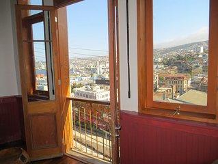 La mejor vista de Valparaíso a sólo 10 minutos de todos los lugares de interés