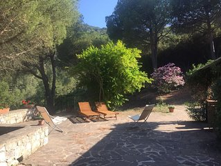 A charming country house in the hills nearby Elba best  beaches