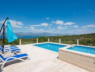Stunning Villa Kirigin on Island of Brac with pool and own barbecue