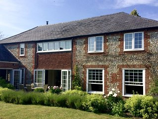 A 5 bedroom converted barn in rural West Sussex between the sea and the Downs
