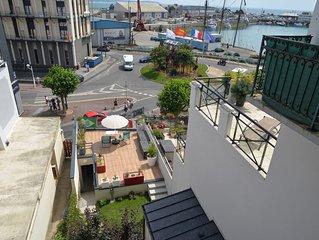 Appartement 4p, au coeur de Granville, entre ports, plage, centre et haute ville