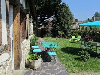 Authentique maison normande (8p) à 1km de la mer, jardin clos et parking privé