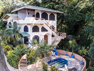 Luxury 5-Bedroom Villa-Great Location! Pool, Ocean Views, Monkeys, Sloths