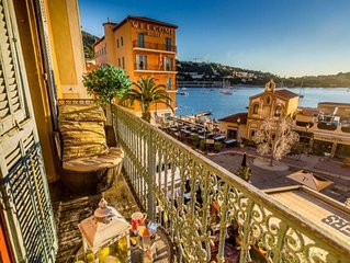 Stunning Two Bed Apartment With Sunny Balcony Overlooking Bay Of Villefranche