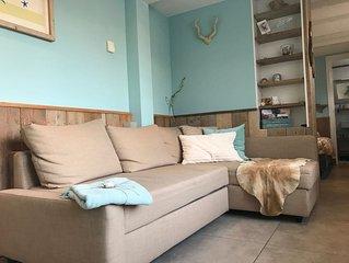 Luxe appartement (3 pers) bij strand/duin/centrum incl. parkeren en kleine patio