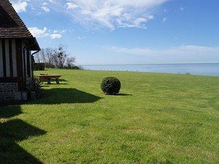 Villa de Prestige à Honfleur avec accès privé à la plage et parc de 8000 m²