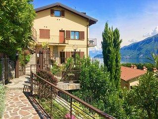 Stunning lake view apartment near Bellagio with sun terrace & WiFi