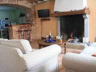 Maison cosy en Champagne : cheminée et balnéo duo