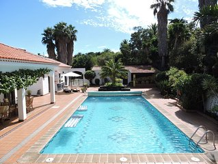 Spacious secluded Private Villa, large salt water swimming pool and Hot Tub