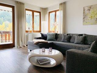 Zentrumsnahe Luxusferienwohnung mit Infrarotsauna, Fitnessgerät und Whirlpool