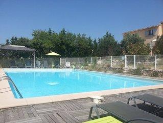 Maison  5 pers, climatisée, piscine 11x7, Lubéron Provence France !