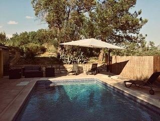 Villa familiale Proche Uzes, Piscine privative, Chambres Climatisees.