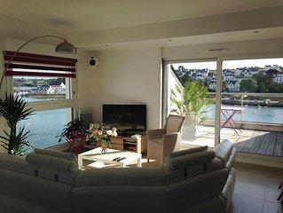 Grand appartement de standing avec vue sur le port d'Audierne, Bretagne, 2 pers.