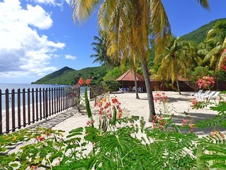 Villa Creole and coconut garden located on the beach of Grande Anse. WIFI