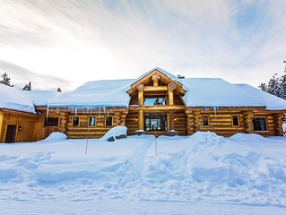 Lone Mountain View Log Home in Big Sky, Montana