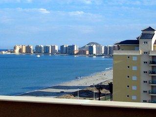 Luxury, Double Beachfront Penthouse, Stunning View, Wi-Fi, SAT TV, Pool