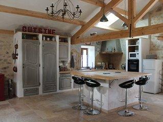 Haute-Loire limite Ardèche, ferme rénovée, accueil jusqu'à 6 personnes